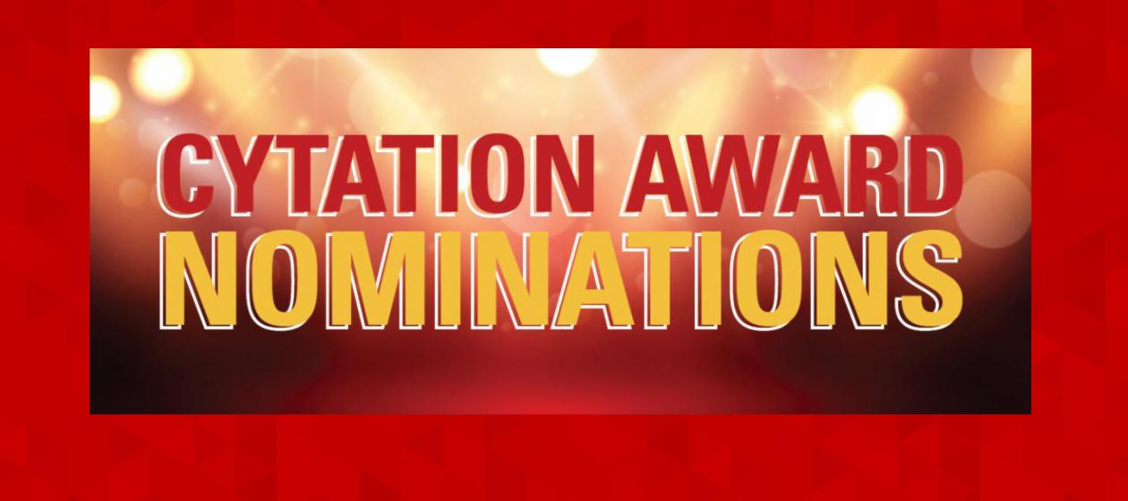 CYtation Award nominations are open! Celebrate what's great with Professional and Scientific employees!